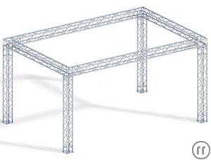 messestand 4 punkt traversen system 430 x 530 x 330 cm. Black Bedroom Furniture Sets. Home Design Ideas