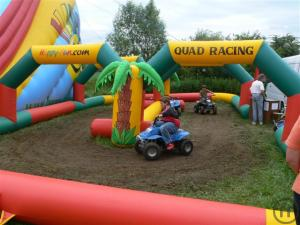 Quad racing barriere mit 4 Quads